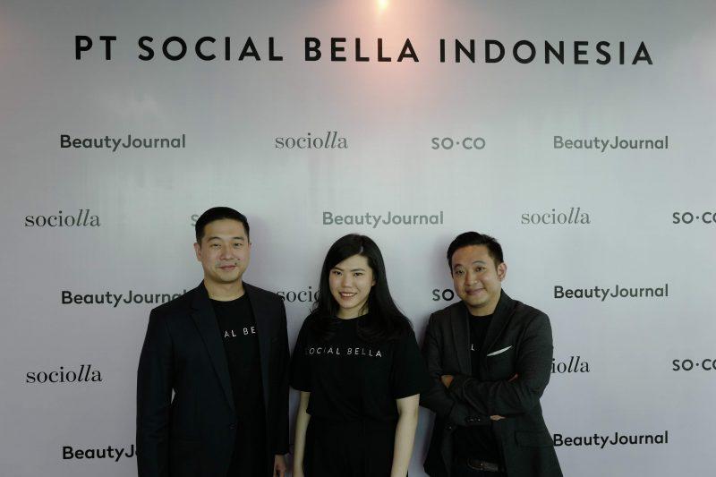 Co-Founder oof Social Bella John Rasjid, chrisanti indiana, and Christopher Madiam.
