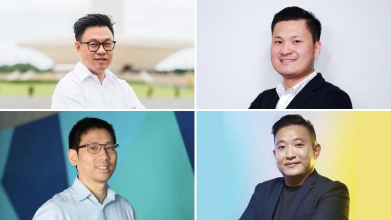 Willson Cuaca (East Ventures), Andree Susanto (Waresix), Christopher Madiam (Sociolla), and Henry Hendrawan (Traveloka)