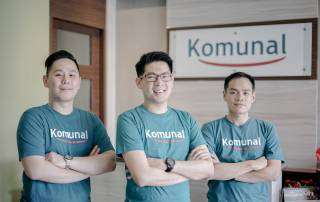 Komunal's Co-Founders Rico Tedyono, Hendry Lieviant, Kendrick Winoto